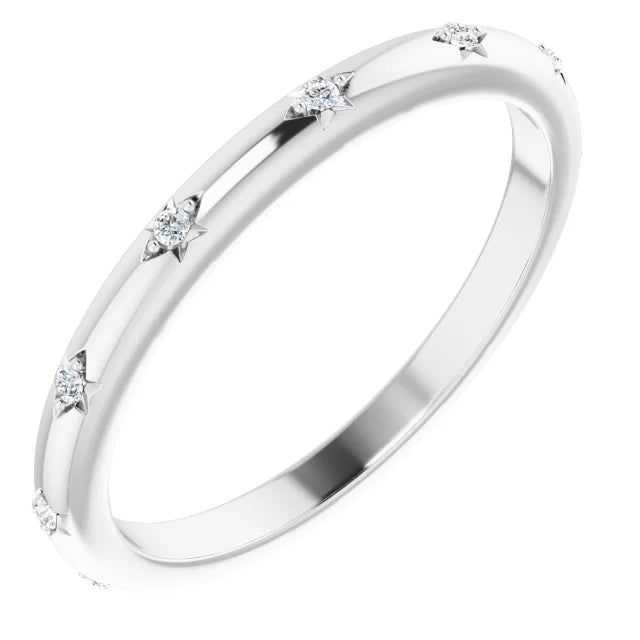 Round Brilliant Moissanite Eternity Band