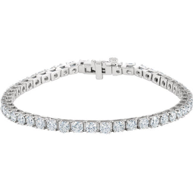7.00ct Claw Set Tennis Bracelet - I Heart Moissanites