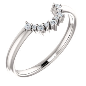 Moissanite Contour Wedding Band - I Heart Moissanites
