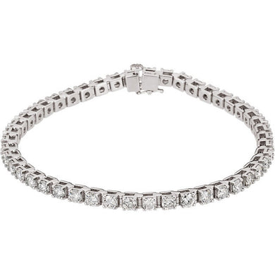 4.50ct Claw Set Tennis Bracelet - I Heart Moissanites