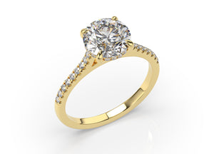 Round Brilliant Hidden Halo Engagement Ring