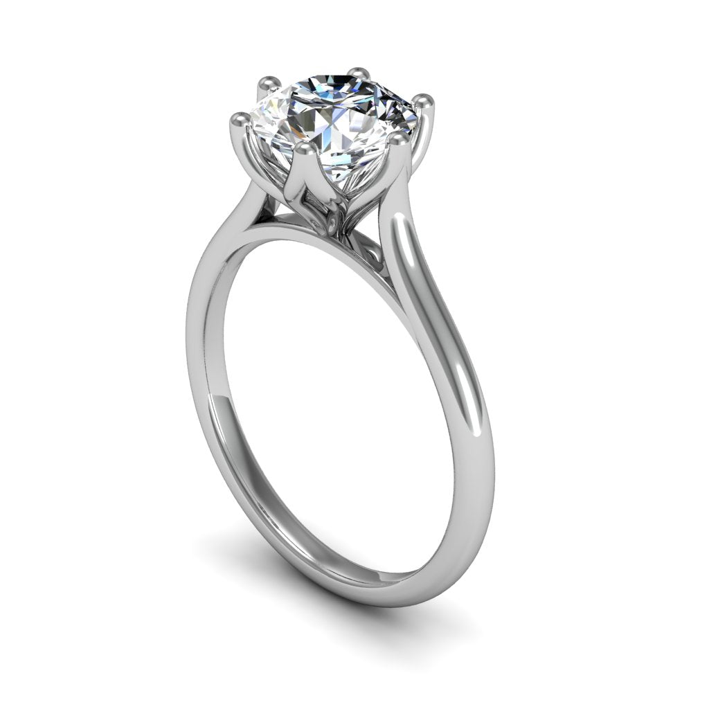 1.50ct Six Claw Platinum Round Brilliant Engagement Ring