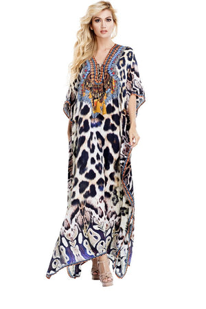 Zara Embellished Kaftan Dress