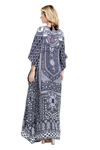 Maya Embellished Kaftan Dress
