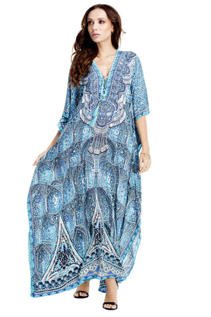 Gabriella Embellished Kaftan Dress