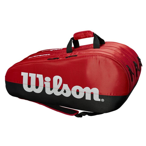 Wilson 3 Compartment Tennis Kitbag, Black/Red - Best Price online Prokicksports.com