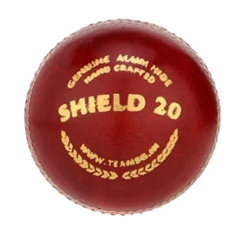 SG Shield 20 Cricket Leather Ball, Red - Best Price online Prokicksports.com