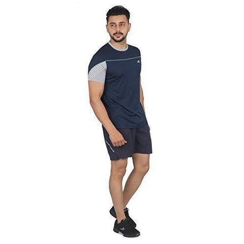 Vector X Men's Round Half Sleeves T-Shirt Navy - Best Price online Prokicksports.com