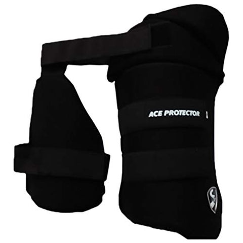 SG Ace Protector Black Thigh Pads Right Hand (Combo) - Best Price online Prokicksports.com