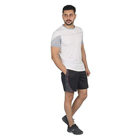 Vector X Men's Round Half Sleeves T-Shirt White - Best Price online Prokicksports.com