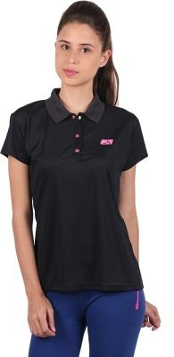 Vector X Women's Solid Polo Neck T-Shirt VTDF-008A (Navy Blue) - Best Price online Prokicksports.com