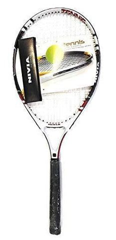 Nivia Pro Drive 26 Junior- Graphite Comp -Tennis Racket, White/Black - Best Price online Prokicksports.com