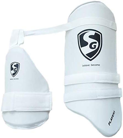 SG Players White Combo Cricket Thigh Pads, Adults - Best Price online Prokicksports.com