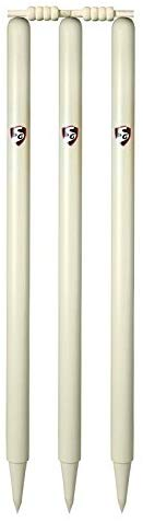SG Club Cricket Stumps, 6 Pieces (White) - Best Price online Prokicksports.com