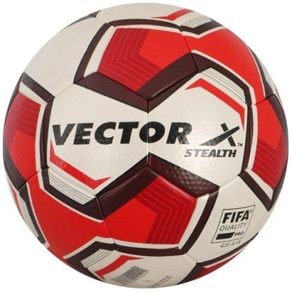 Vector X Stealth 5 Thermo Bonded PU Professional Football, Size 5 (White/Red) - Prokicksports.com