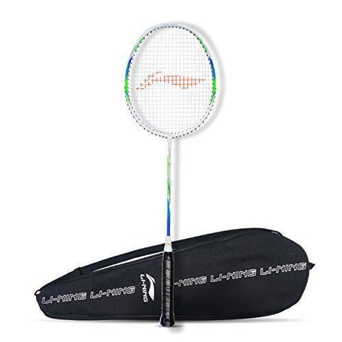 Li-Ning G-Force Superlite 3900 Strung Badminton Racquet White/Blue - Best Price online Prokicksports.com