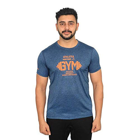 Vector X Silver-Energy-B Men's Round Neck T-Shirt (Blue) - Best Price online Prokicksports.com