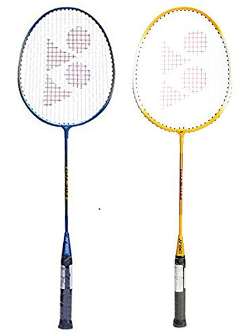 Yonex GR303 Badminton Combo Kit (Yellow/Blue) - Best Price online Prokicksports.com
