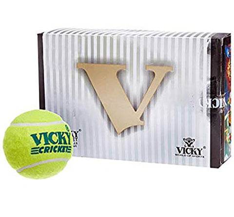 Vicky Cricket Tennis Ball - VICKY CRICKET Yellow - Prokicksports.com