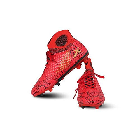 Vector X Jaguar Synthetic Football Shoes (Red-Black) - Best Price online Prokicksports.com