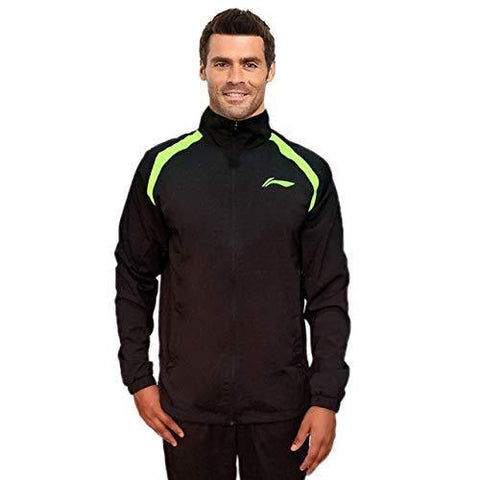 Li-Ning Active Sports Jacket Junior - Black/Lime - Best Price online Prokicksports.com