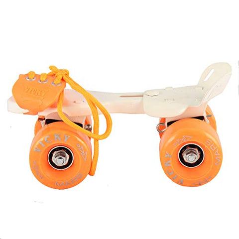 Vicky Mars Baby Large Wheels Rolling Stakes (Orange) - Best Price online Prokicksports.com