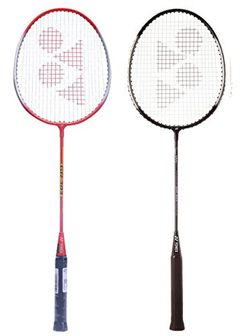 Yonex GR 303 Combo Badminton Racquet, Set of 2 (Black/Red) - Best Price online Prokicksports.com