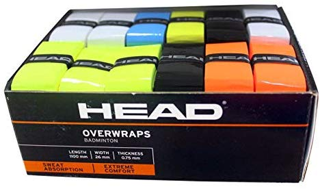 HEAD HEAD0275 Tennis Racquet Grips (Multi-Color) - Pack of 48 - Prokicksports.com
