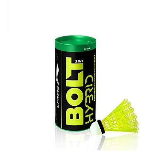 Li-Ning Bolt Hybrid (3 in 1) Nylon Badminton Shuttlecocks (Yellow) - Best Price online Prokicksports.com