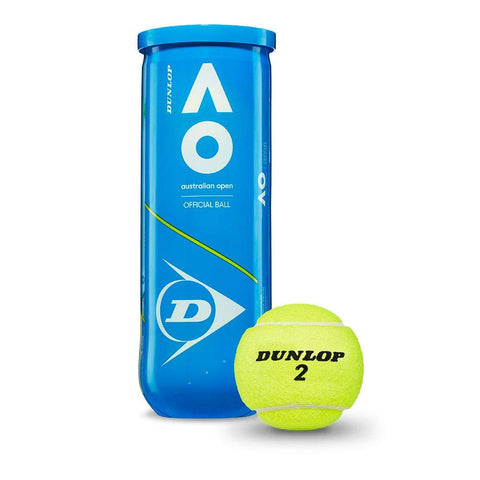 Dunlop Australian Open Tennis Ball Can (Pack of 3) - Prokicksports.com