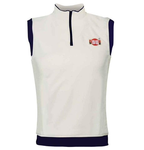 SS Professional Cricket Sleeveless Sweater, White - Best Price online Prokicksports.com