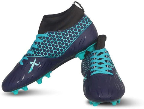 Vector X Champion Football Shoes (Navy-Sea Green) - Best Price online Prokicksports.com