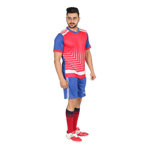 Vector X Football Set (T-Shirt & Short) VFS-ENGLAND (Red-Blue-White) - Best Price online Prokicksports.com