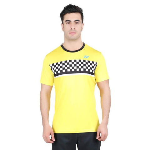 Yonex 1794 Polyester Badminton Choice of Champion Series T-Shirt (Buttercup) - Best Price online Prokicksports.com