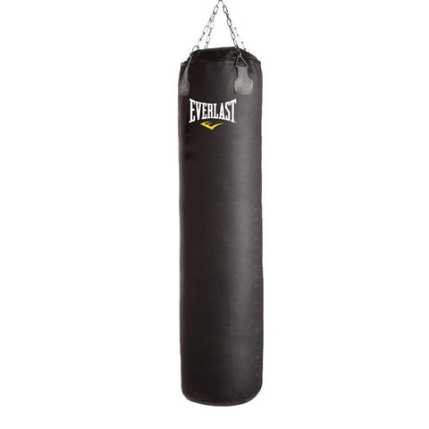 Everlast Muay Thai Synthetic Leather Heavy Bag (Black), 100 Lbs - Best Price online Prokicksports.com