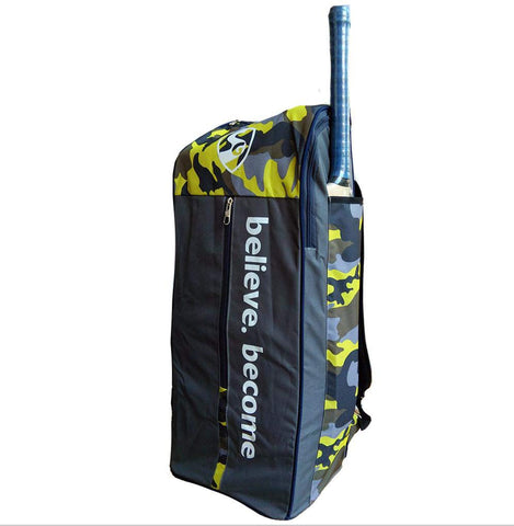 SG Savage X2 Cricket Kit Bag, Camo/Grey/Yellow - Best Price online Prokicksports.com