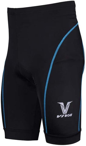 Viva CSP-002 Cycling Padded Shorts (Black-Blue) - Best Price online Prokicksports.com
