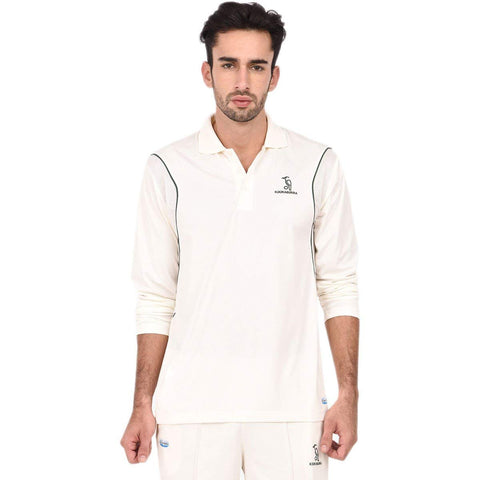 Kookaburra Cricket T-Shirt Full Sleeve, White - Best Price online Prokicksports.com