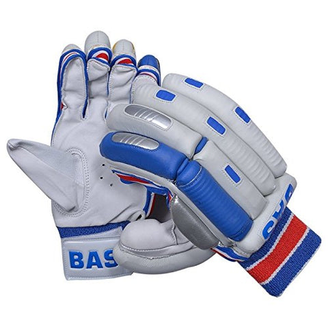 BAS Men's Player Batting Gloves RH - White/Blue/Red - Best Price online Prokicksports.com