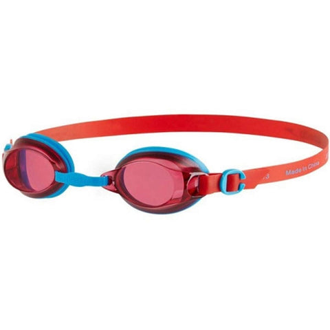 Speedo Jet V2 Junior Swimming Goggles for age 6 to 14 Years - Blue/Red - Best Price online Prokicksports.com