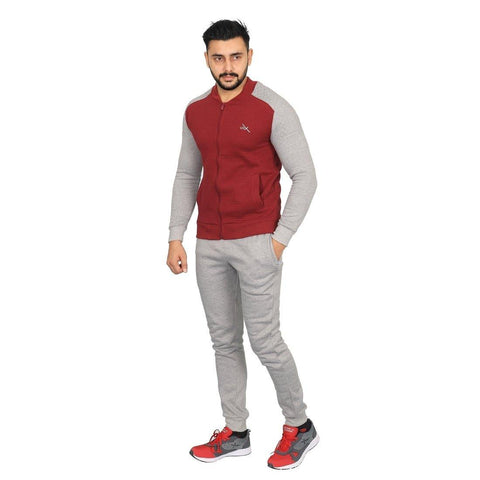 Vector X Fleece-X Track Suit Red-Grey - Best Price online Prokicksports.com