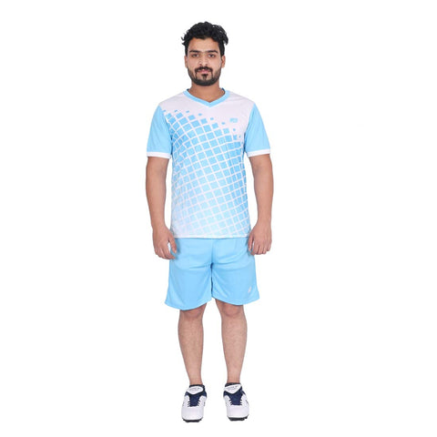 Vector X Football Set (T-Shirt & Short) VFS-ARGENTINA (Blue-White) - Best Price online Prokicksports.com