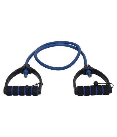 Vector X JF-1100 Heavy Adjustable Latex D Handles Tube Exerciser (Blue) - Best Price online Prokicksports.com