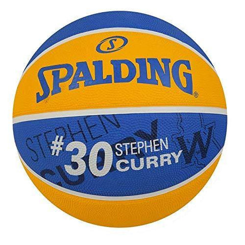 Spalding Stephen Curry Basketball, Size 7 (Blue/Yellow) - Best Price online Prokicksports.com