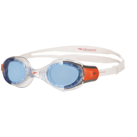 Speedo Futura Biofuse Goggles, Junior One Size (Clear/Blue) - Prokicksports.com