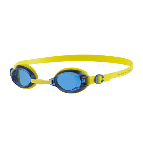 Speedo Junior Jet Swimming Goggles, Kids Free Size (Empire Yellow/Neon Blue) - Prokicksports.com