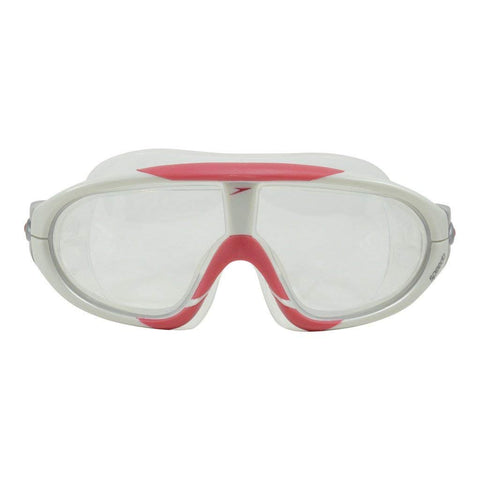 Speedo Unisex-Adult Rift Swimming Goggles - White Red - Best Price online Prokicksports.com