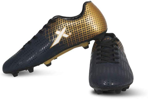 Vector X Ozone Football Shoes (Navy-Gold) - Best Price online Prokicksports.com