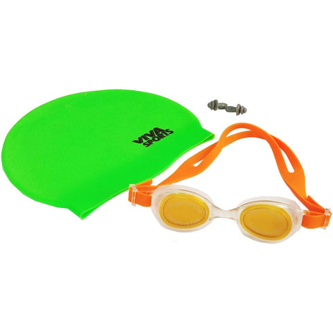 Senior Sports Swimming Set (Cap + Goggles + Earplugs) - Best Price online Prokicksports.com
