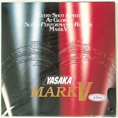 Yasaka Mark V Rubber Table Tennis, Full Size (Red) - Best Price online Prokicksports.com